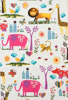 Alexander Henry - Juicy Jungle Brite Multi -1/2 yard - OOP - Rare. $13.00, via Etsy.