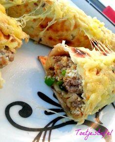 Wraps met gehakt en ei recept. nu online op www.toetjestafel.com