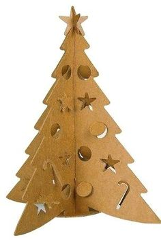 Turorial : How to make a Christmas tree carton / Tutoriel : Réaliser un sapin de… Paper Christmas Ornaments, Christmas Crafts To Make, Diy Christmas Tree, Christmas Makes, Holiday Tree, Christmas Wrapping, Winter Christmas, Natal Diy, Easter