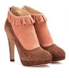 Charlotte Olympia Emily Suede Ankle Boots - #shoes www.finditforweddings.com