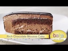 Chocolate Mousse Cake \ Devil's Food Cake \ Red Velvet Cake\ Glazed Petit Fours from Bake with Anna Olson - YouTube