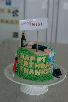Triathlete Finish Line Birthday Birthday Cake, It Is Finished, Desserts, Food, Tailgate Desserts, Deserts, Birthday Cakes, Essen, Postres