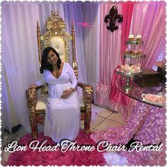 Lion Head throne Chair rental