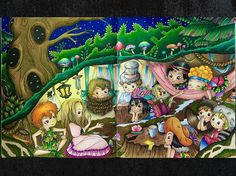 Fabiana Attanasio: Peter Pan  coloreado con prismacolor premier 150, stabilo 88…
