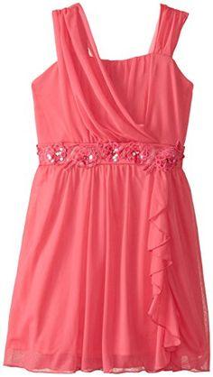Amy Byer Big Girls' Draped Bodice Dress Jeweled Waist, Bright Coral, 10 Amy Byer http://smile.amazon.com/dp/B00PBX7NKQ/ref=cm_sw_r_pi_dp_uYsdvb1Q9MA0P