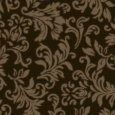 """Kenshire Home Decorative 54"""" Brown Scroll Cotton Print Fabric"""