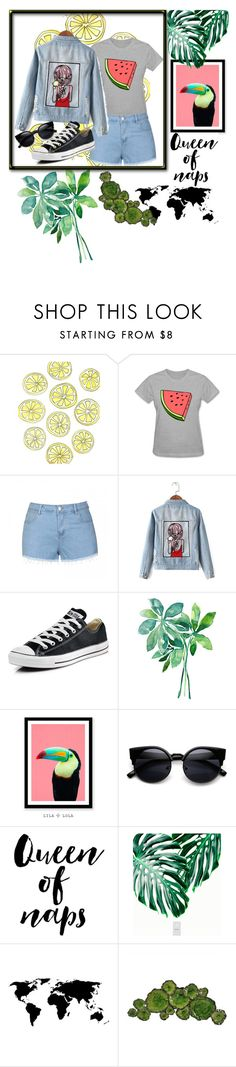 """Untitled #34"" by ajla0708 ❤ liked on Polyvore featuring Ally Fashion, Chicnova Fashion, Converse and Moe's Home Collection"