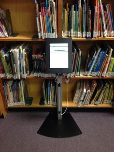 """Trying out new library catalogue search station in the Vanier #LearningCommons #gvlearn #sd36learn #tlchat"""