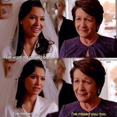 """#Glee 6x08 """"A Wedding"""" - Santana and her grandmother"""