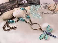 Stunning dragonfly necklace......want it? Go to ejcreativeflair.com/dragonfly