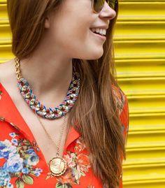 75 Chic Necklaces You Can DIY via Brit + Co.