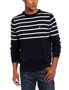 Nautica Men's Main Sail Crew Neck Sweater, Class Navy, Large Nautica. $62.99