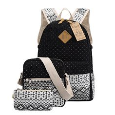 Ulgoo School Backpacks Canvas Teen Girls Backpacks Casual Shoulder bags Black *** Check out the image by visiting the link. Girl Backpacks, School Backpacks, Back To School Sales, Backpack For Teens, Getting Wet, Herschel Heritage Backpack, Vacation Ideas, School Supplies, Purses And Bags