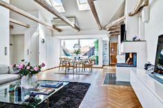 Open speace flat in Stocholm/ Otwarte mieszkanie w Sztokholmie