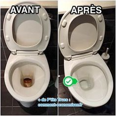 L'Astuce Super Efficace Pour Décrasser La Cuvette des WC Sans Effort. Safe Cleaning Products, Cleaning Solutions, Cleaning Hacks, Green Tips, Flylady, Home Hacks, Housekeeping, Clean House, Home Remedies
