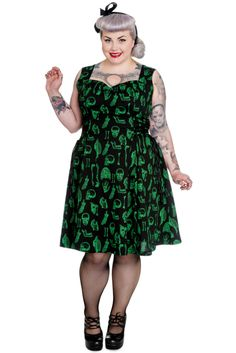 Hell Bunny Plus Size Gothic Black Green Halloween Skull Anatomy Lace Dress Plus Size Gothic Dresses, Dress Plus Size, Plus Size Outfits, Dress Skirt, Lace Dress, Dresser, Cool Outfits, Fashion Outfits, Gothic Outfits