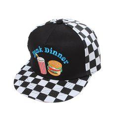 99a08ed0fd6 90s Hamburger cap hat.  26.00