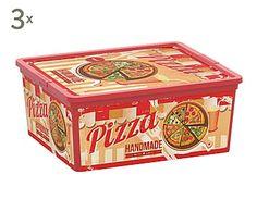 Set de 3 cajas de almacenamiento Fast Food - M