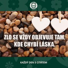 ZLO SE VŽDY OBJEVUJE TAM, KDE CHYBÍ LÁSKA | citáty o lásce Motto, True Stories, Quotations, Life Quotes, Beautiful, Instagram, Quotes About Life, Quote Life, Living Quotes