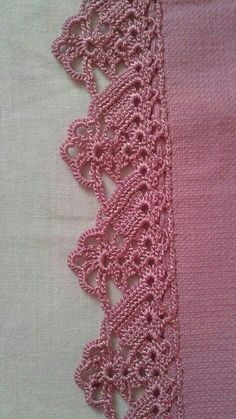 How to Crochet Wave Fan Edging Border Stitch Crochet Edging Patterns, Crochet Lace Edging, Crochet Leaves, Crochet Borders, Lace Patterns, Crochet Designs, Crochet Doilies, Crochet Flowers, Filet Crochet