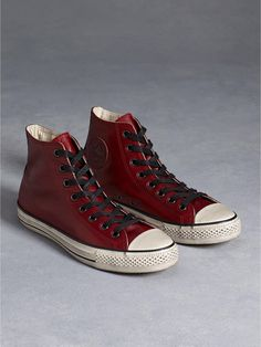 sneakers for cheap fdcc8 3875b All Star Burnished Leather Chuck Taylor in Oxblood - John Varvatos Converse  Ox, Leather Converse