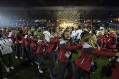 Athletes celebrate the closing of the Commonwealth Games at Hampden Park. Glasgow 2014 gathered athletes from over 70 nations.