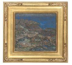 """""""Seascape IV,"""" Charles Salis Kaelin, pastel on paper, 3.75 x 15.25"""", private collection."""