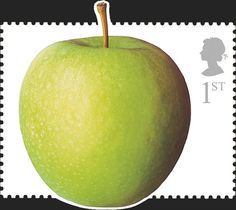 Royal Mail Special Stamps   Fun Fruit & Veg. Royal Mail DIY Stamps Apple Royal Mail Stamps, Uk Stamps, Postage Stamps, Fruit And Veg, Fun Fruit, Best Fruits, Stamp Collecting, Flora, Food And Drink