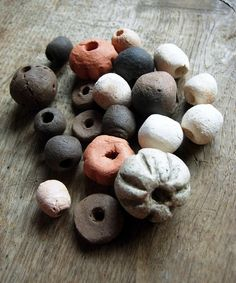 Tribal mix  ceramic beads by vLaDtHeBaT on Etsy, $14.70
