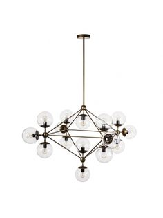 Hodge Pendant Lamp - Brass /clear Glass