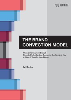 The Brand Convection Model - Cerebra Social Business, Awkward Moments, Conversation, Bar Chart, Leadership, Boss, Thoughts, Model