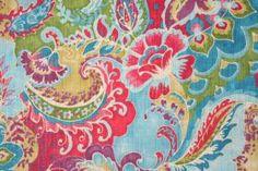Fabric by the Yard :: Richloom Teak Printed Slubbed Cotton Drapery Fabric in Bouquet $14.95 per yard - Fabric Guru.com: Fabric, Discount Fab...