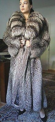 Soldes xxxl Manteau de Fourrure Gorille renard argenté renard manteau renard veste fur coat шуба