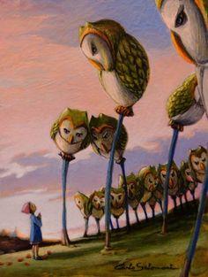 Carlo Salomoni-THE GROVE OF THE OWLS