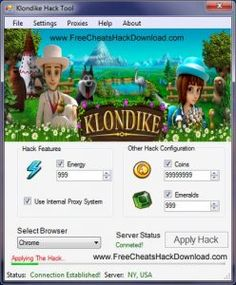 Klondike Cheats Emeralds Coins Energy Hack In the event that you are searching for this specific amusement's instrument, its the place you can ever get Fast App Hack, News Highlights, Browser Support, Android Hacks, Hack Online, New Tricks, Free Games, Web Browser, Cheating