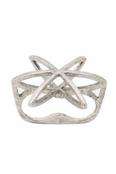 Low Luv Cosmos Double Finger Ring in Silver