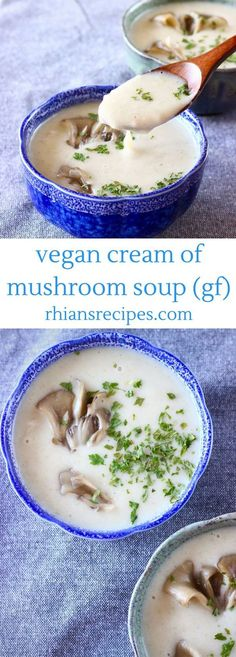 This Vegan Cream of Mushroom Soup is full of flavour, so easy to make and seriously healthy! Made using white beans and naturally gluten-free.
