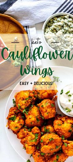 People go crazy over these Keto Cauliflower Wings! When I first created this recipe, I made them three days in a row at my family's request. You are going to love the buttery, tangy sauce paired with surprisingly crispy cauliflower. Party Appetizers, Healthy Appetizers, Appetizers For Party, Appetizer Recipes, Cauliflower Wings, Keto Cauliflower, Crockpot Recipes, Keto Recipes, Air Fryer Healthy