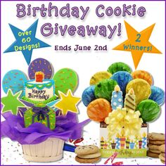 Birthday cookie giveaway http://www.partyof5andcounting.com/2013/05/birthday-cookie-gift-giveaway.html