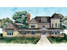 Queen Anne House Plan with 4812 Square Feet and 4 Bedrooms from Dream Home Source | House Plan Code DHSW45238