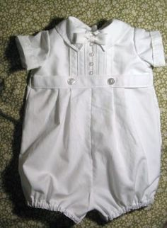Love this style - not paying $60 for something he will wear one time.  ALL WHITE Boy Blessing/Christening Outfit by knotsewshabby on Etsy, $60.00