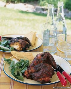 Smoked paprika, sherry vinegar, and minced garlic give grilled chicken a seductively smoky flavor in this Spanish-inspired recipe. Cook a whole chicken more quickly by cutting out the backbone with kitchen shears and flattening the bird -- a process known as butterflying.