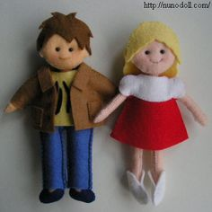 Felt mini dolls - great pattern.