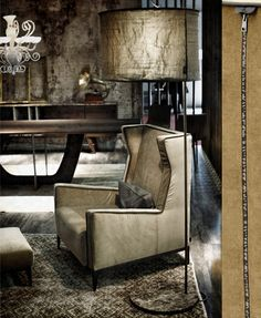 #Decor | #Arketipo Goldfiner #Chair | Vintage cool with decadent luxury in the Goldfinger armchair.