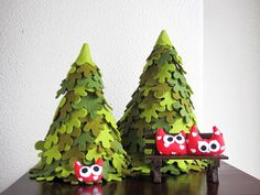 Cute trees! (But in a more muted palette for me!)
