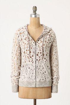 Gorgeous sheer anthropologie hoodie!