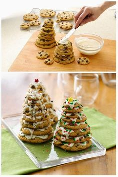 How to Make Holiday Tree Cookie Stacks