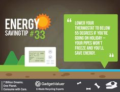 Energy Saving Tip 33 | 150+ Sustainability Resources | #WED2015 #7BillionDreams #Sustainability