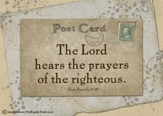 The LORD hears our prayers!  https://www.facebook.com/PostcardsFromGod/