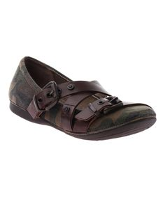 Another great find on #zulily! Brown Camo Park Hills Leather Flat by OTBT #zulilyfinds